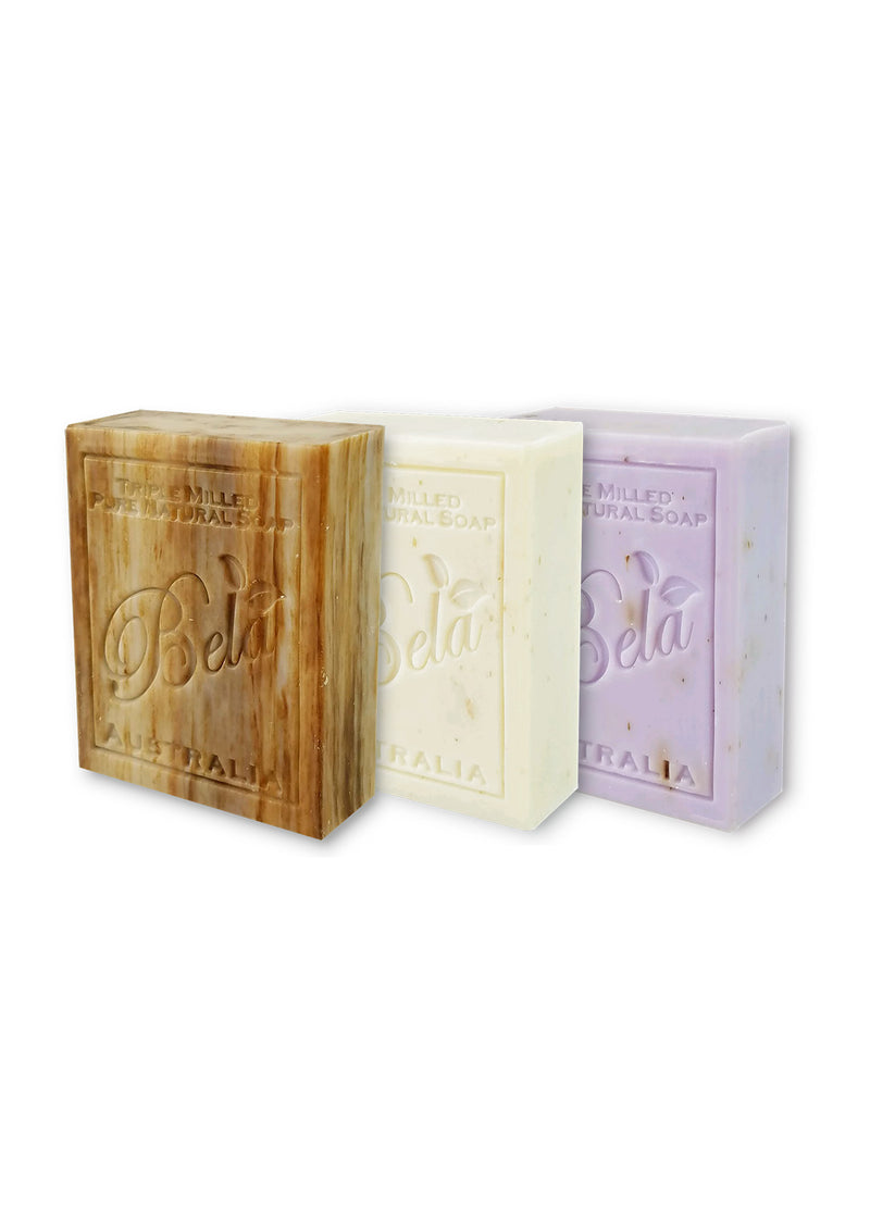 Bela Pure Natural Soap 3 Pack 3.5 Oz