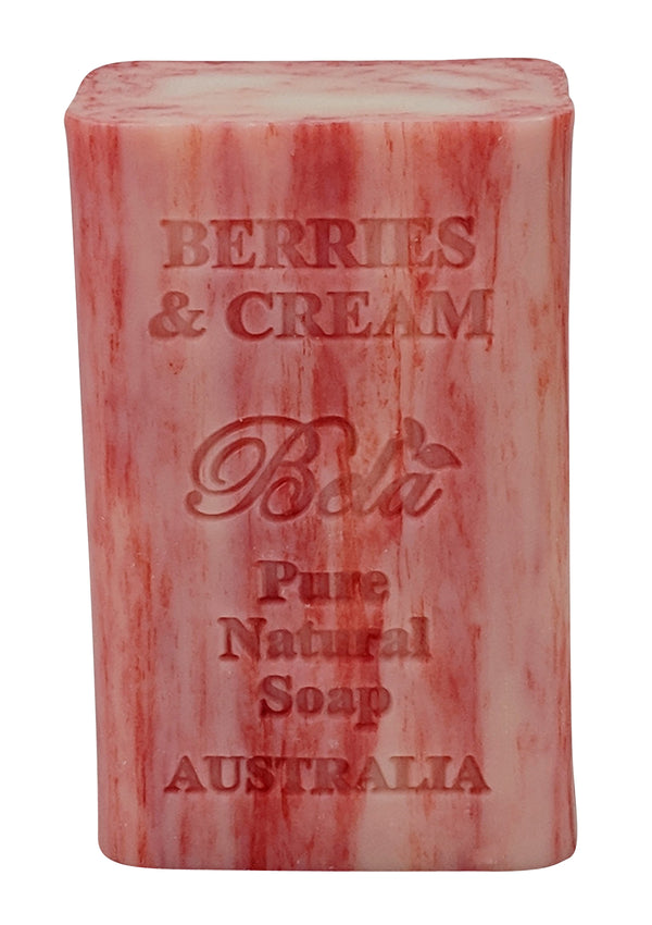 Bela 6.5 Oz Berries & Cream Natural Soap Bar