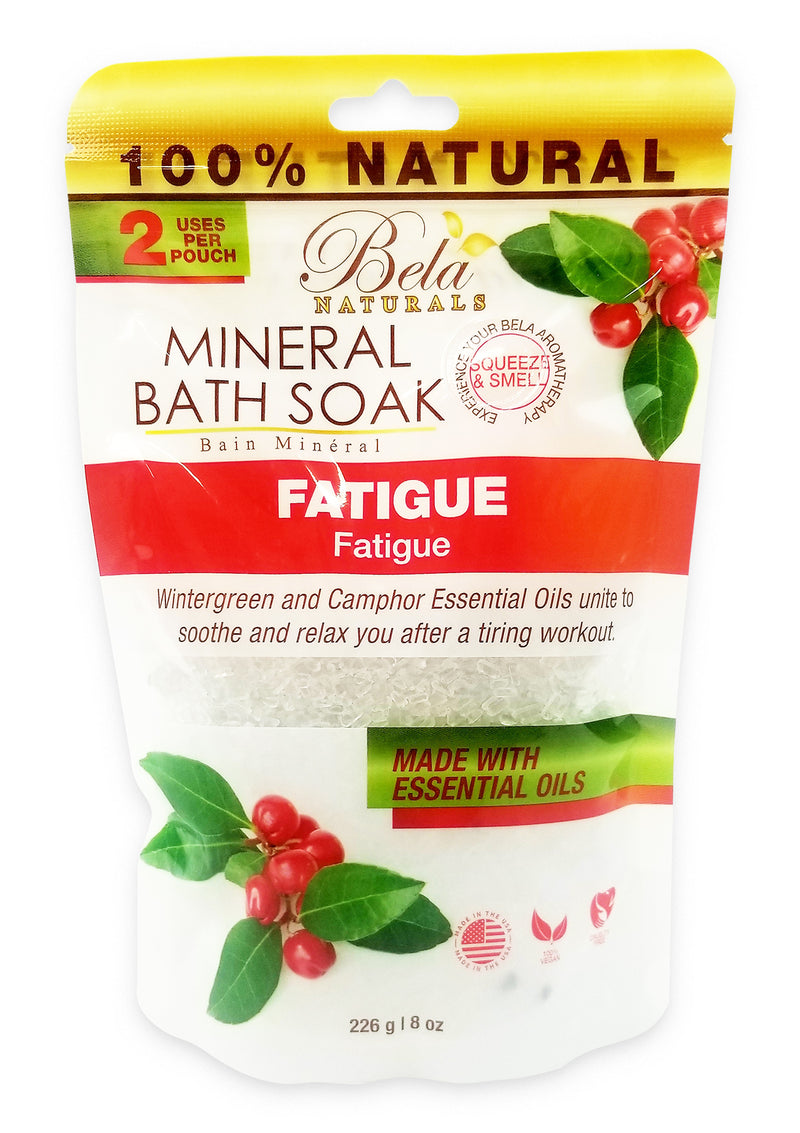 Bela Mineral Bath Soaks, Fatigue Formula - 2 Use - 8 Oz Pack