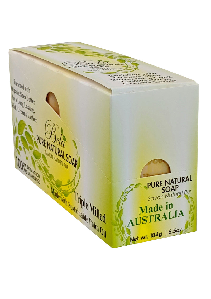 Bela Pure Natural Soap, Manuka Honey, 6.5 Oz - 4 Pack