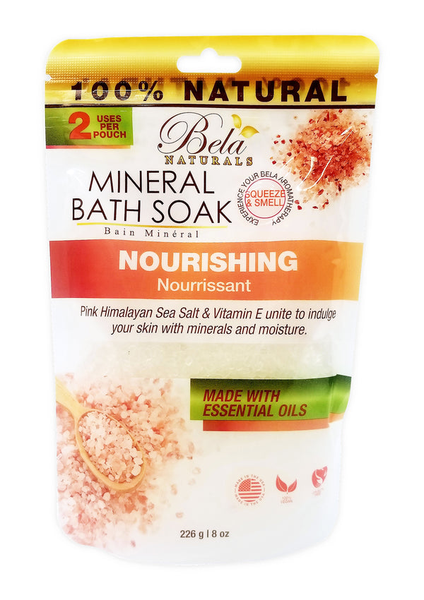 Bela Mineral Bath Soaks, Nourishing Formula, 2 Use - 8 Oz Pack