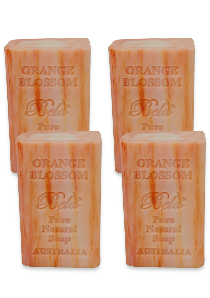 Bela Pure Natural Soap, Orange Blossom 6.5 Oz - 4 Pack