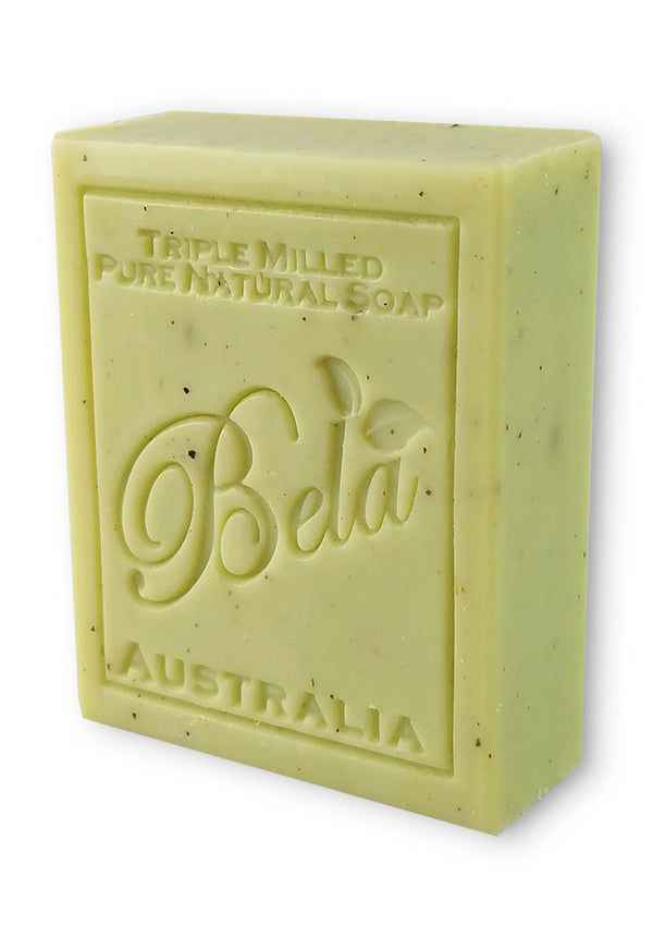 Bela 3.5 Oz Lemon Myrtle with Lemongrass Natural Soap Bar