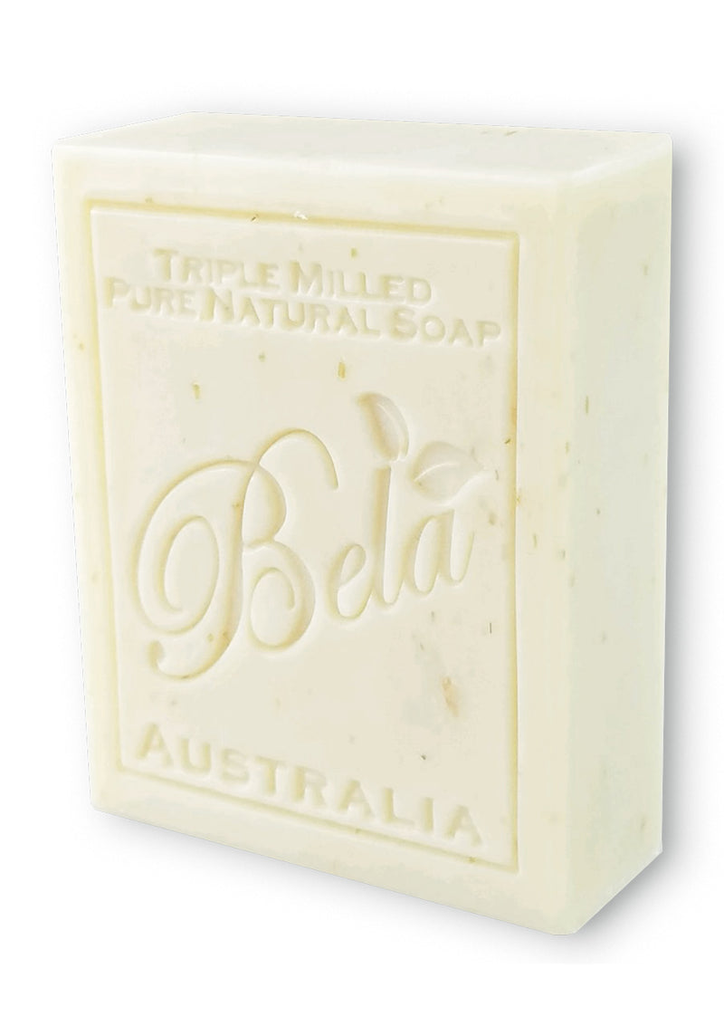 Bela 3.5 Oz Spearmint & Bran Natural Soap Bar
