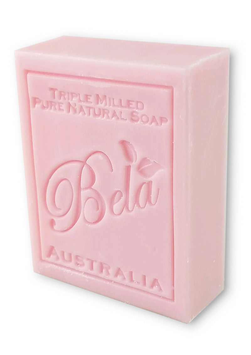 Bela 3.5 Oz Rose Natural Soap Bar