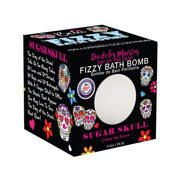 Halloween Fizzy Glow in the Dark Bath Bomb, Day of the Dead, 5.0 Oz