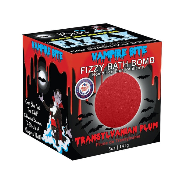 Halloween Fizzy Glow in the Dark Bath Bomb, Vampire Bite, 5.0 Oz