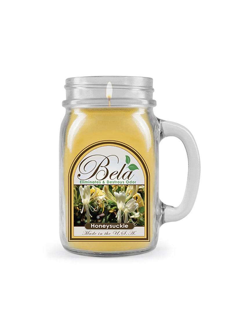 Bela Home Fragrance Honeysuckle Mug Candle 13 Oz