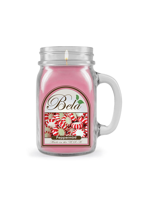 Bela Home Fragrance Peppermint Mug Candle 13 Oz