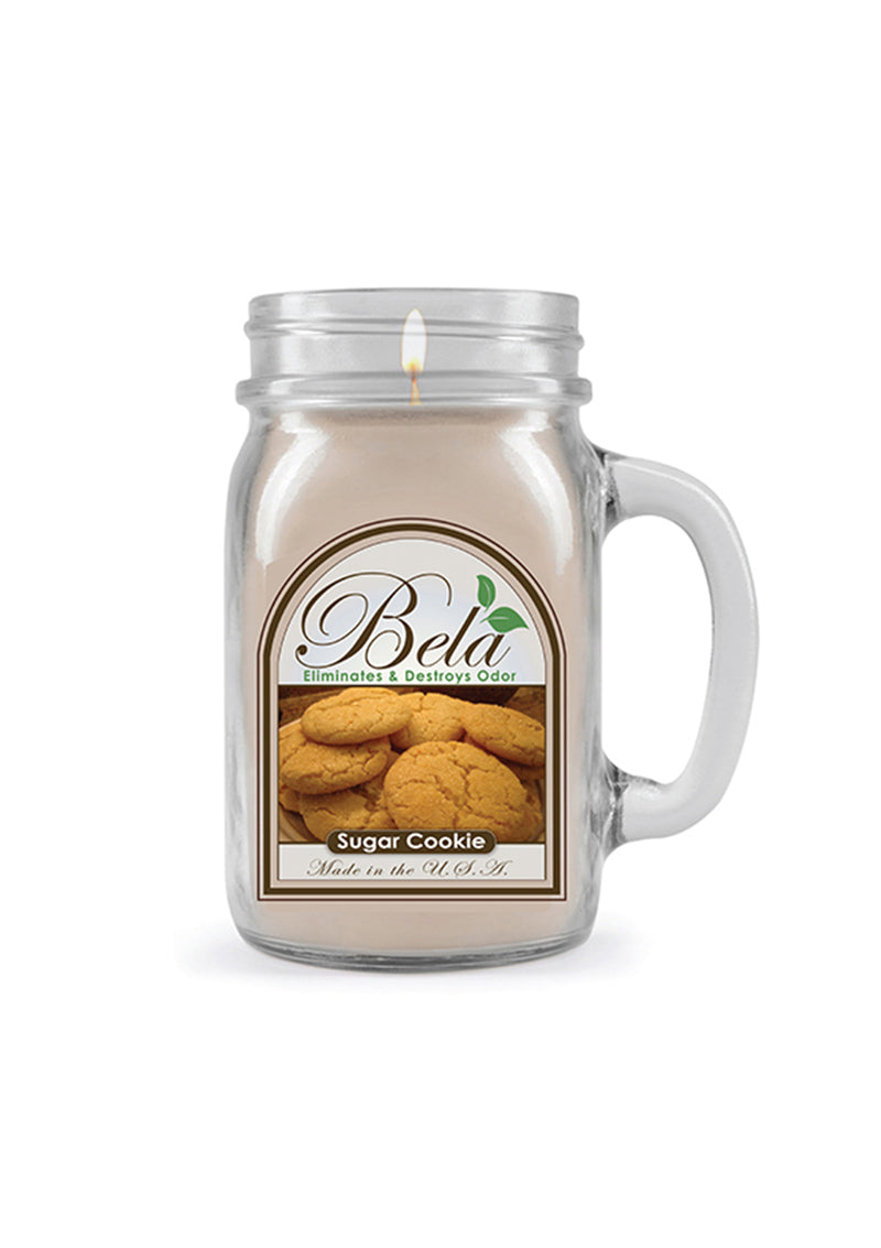 Bela Home Fragrance Sugar Cookie Mug Candle 13 Oz