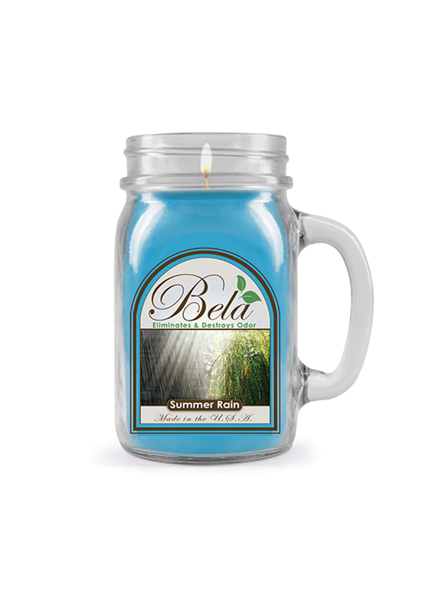 Bela Home Fragrance Summer Rain Mug Candle 13 Oz