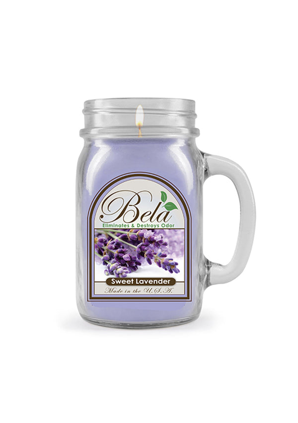 Bela Home Fragrance Sweet Lavender Mug Candle 13 Oz