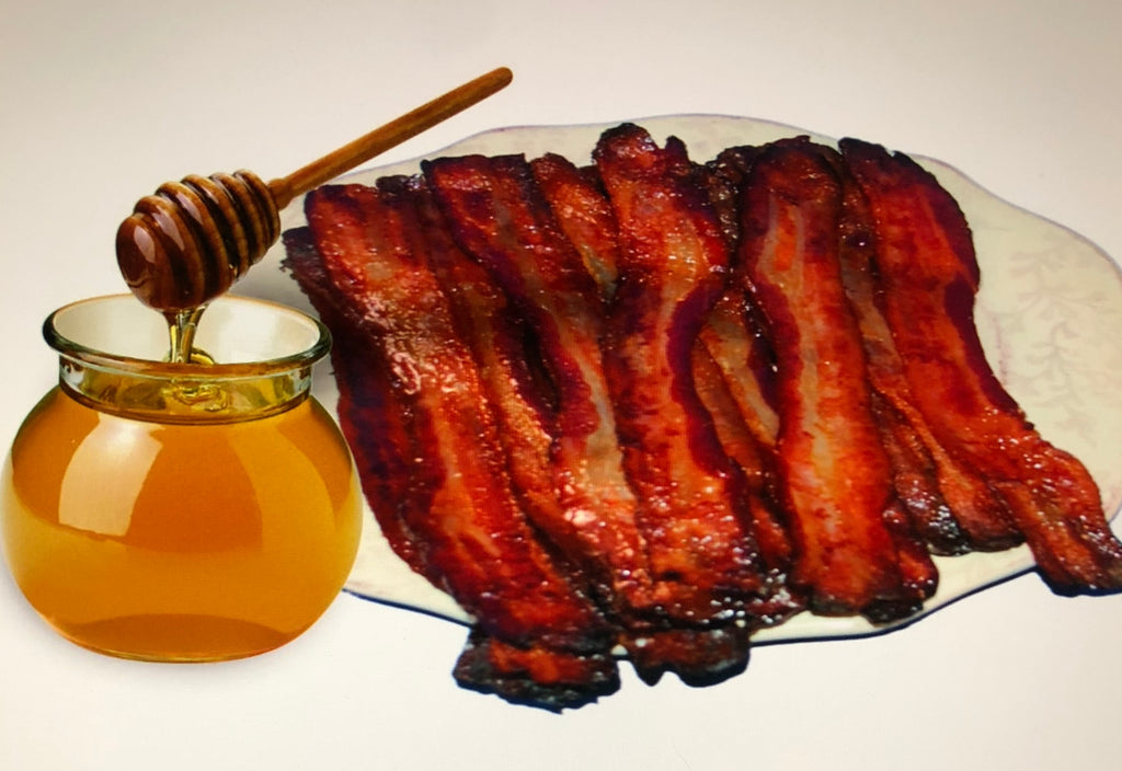 Honey Glazed Bacon with Real Honey