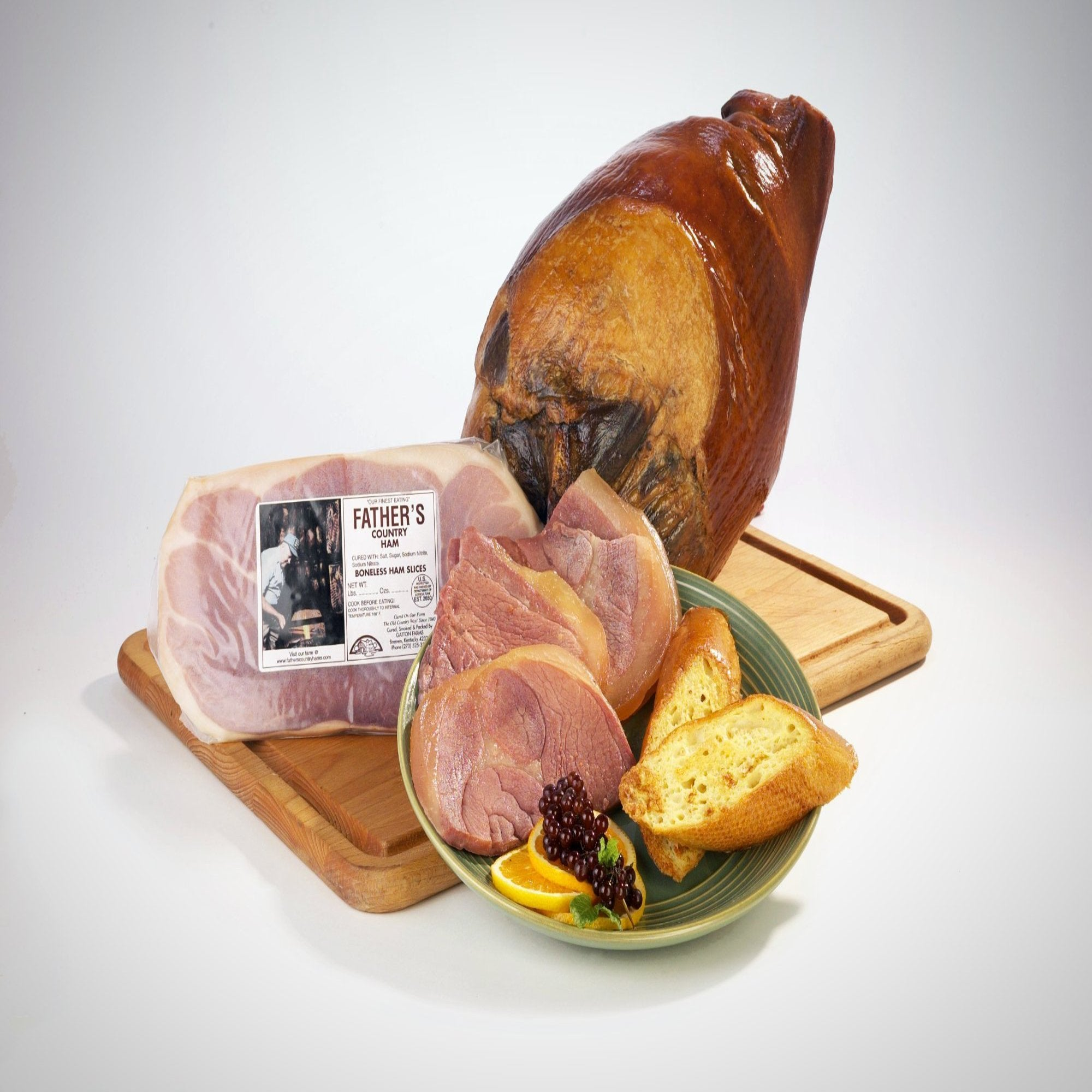 father s boneless country ham slices 1 lb package bh father s