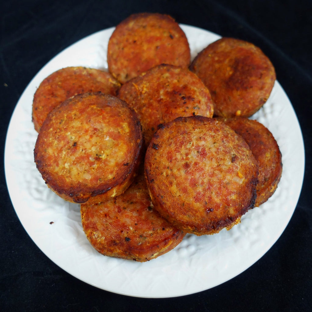 Country Ham and Smoked Sausage Patties