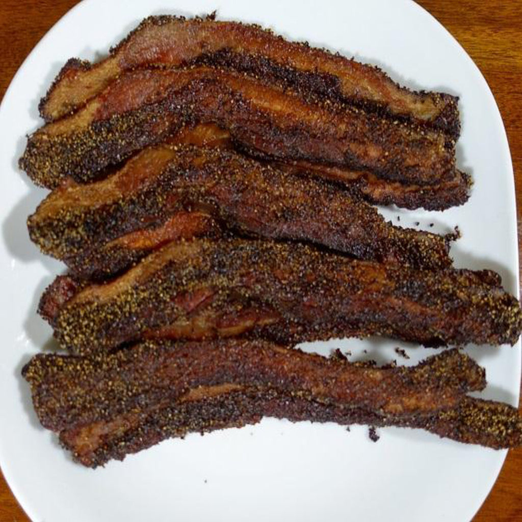 Father's Grilling Thick Sliced Pepper Bacon - GBP