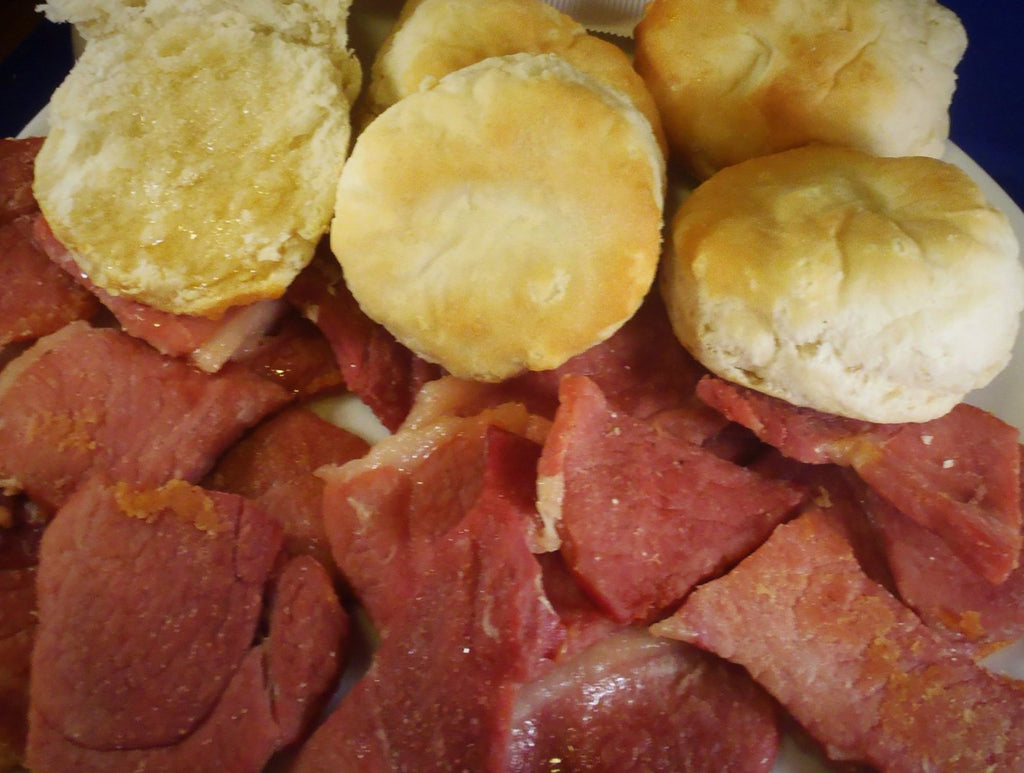Fathers Biscuit Cut Country Ham 8oz Package - CHBS