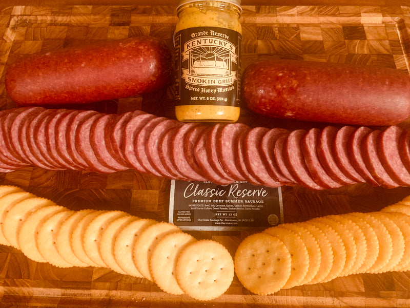 Black Night Summer Sausage & Grand Reserve Mustard - SSM