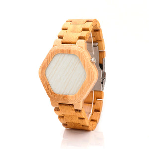 LED Display Digital Bamboo Watch