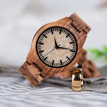 Zebra Mens Luxury Wooden Watch
