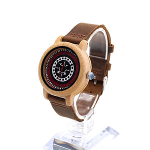 Ladies Bohemian Style Bamboo Wooden Wristwatch in Gift Box