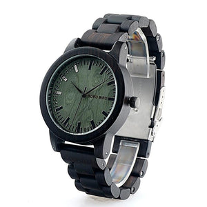 New Arrival Men's Ebony LuxuryAll Wood Quartz Wristwatch in Gift Box