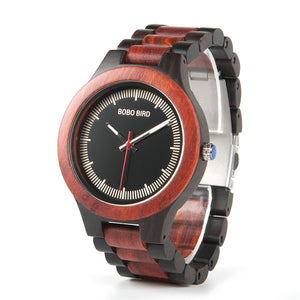 Men's Luxury Bamboo Wood Dress Wristwatch in Wood Gift Box