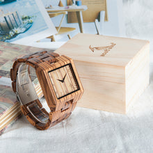 Men's Zebra Wooden Luxury Wristwatch in Gift Box