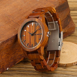 Men's Ebony Wood Wristwatch in Gift Box