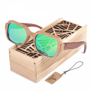 100% Natural Wooden Polarized Beach Drive Sunglasses