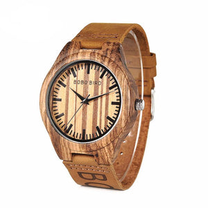 Unique Design Mens Casual Dress Wood Watch