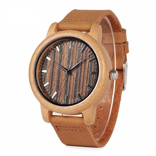 Men's Bamboo Wooden Watch in Gift Box