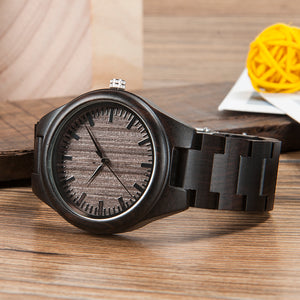 Men's Wood Wristwatch Classic Folding Clasp