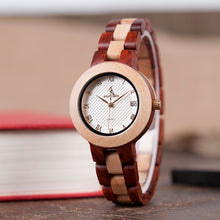 Ladies Luxury Wood Bracelet Watch with Fine Wooden Strap