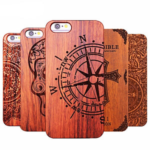 Beautiful Natural Wood Phone Case For iPhone 5, 5S, 6, 6S Plus 7 Plus, 8 Plus, 5.5inch