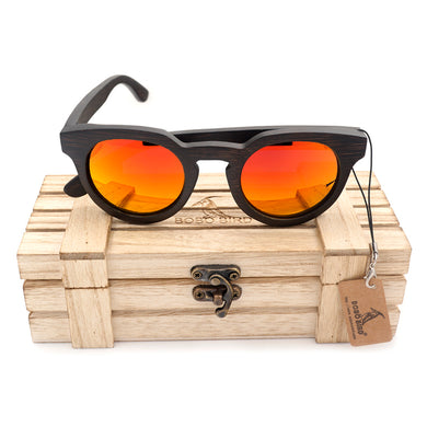 Black Cat Eye Polarized Wood Sunglasses