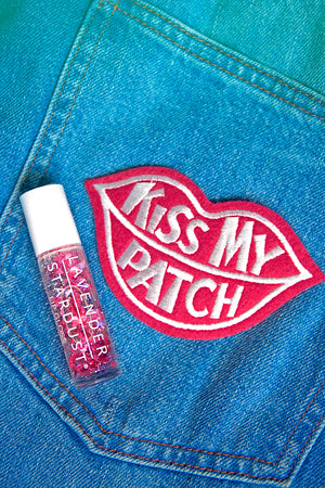 Kissing Glitter Lip Gloss Red Hearts Cherry Stardust