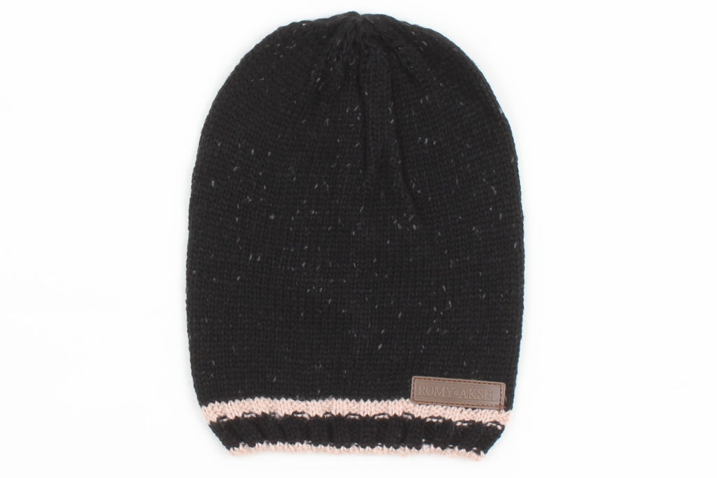 TUQUE ROMY & AKSEL - RUG0011.1 C.BLACK MIX