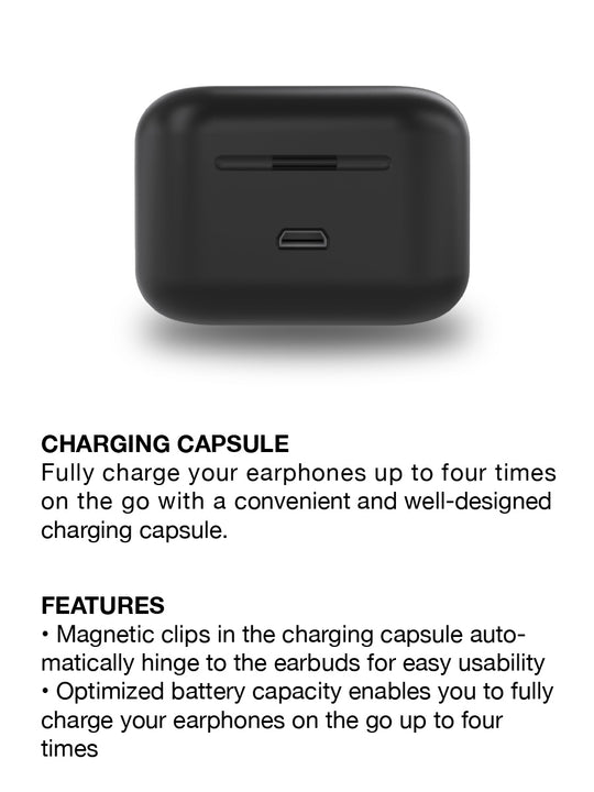 Raycon E70 True Wireless Earbud charging case black