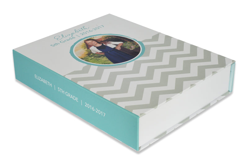 Blue Chevron Memory Box