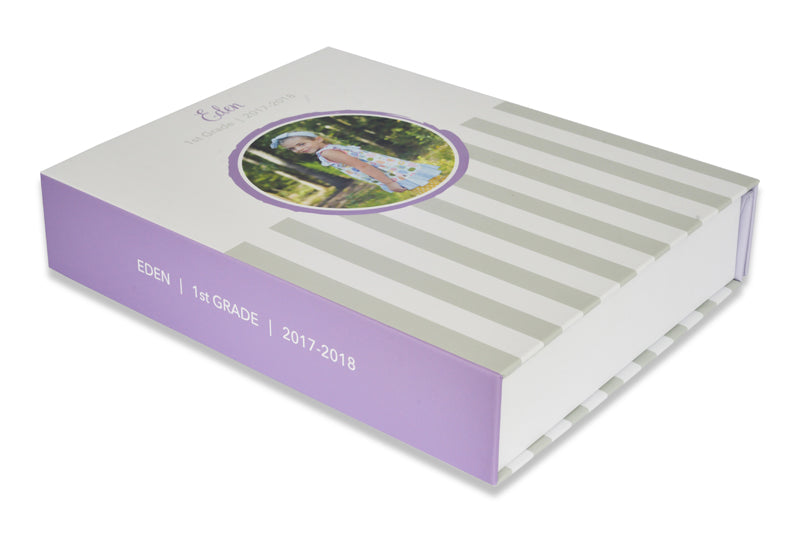 Purple and Gray Memory Box