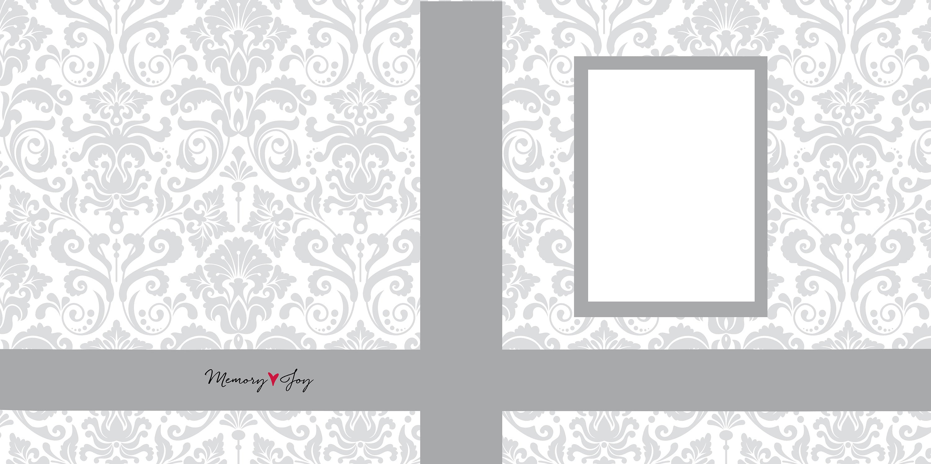 Gray Damask Memory Box