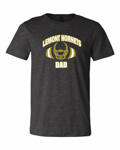 Lemont Hornets Shoulder Pads & Helmet T-Shirt (Dad, Grandpa or Football)