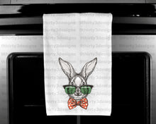 "Sketched Easter Bunny Plush Velour Kitchen Towel -15""x25"""