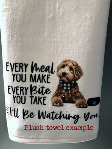 "PERSONALIZED Goldendoodle Dog Every Meal You Make, Every Bite You Take Kitchen Towel -16""x24"", Housewarming Gift"