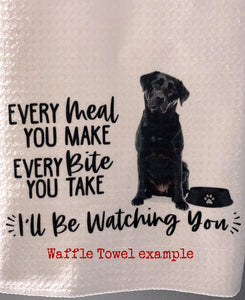 "PERSONALIZED Maltipoo Dog Every Meal You Make, Every Bite You Take  Kitchen Towel -15""x25"", Housewarming Gift"