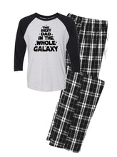 Best Dad in the Whole Galaxy Pajama Set, Gift for Men, Gift for Dad, Dad Pajamas, Flannel Pajamas