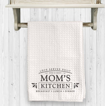 "Mom's Kitchen Waffle Towel, 15""x25"", Gift for Mom, Mother's Day Gift, Farm Decor"