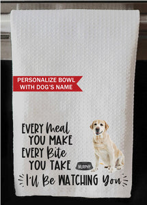 "PERSONALIZED Yellow Labrador Retriever Every Meal You Make, Every Bite You Take Kitchen Towel -16""x24"", Housewarming Gift"