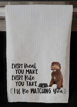 "PERSONALIZED Chocolate Labradoodle Dog Every Meal You Make, Every Bite You Take Kitchen Towel -16""x24"", Housewarming Gift"
